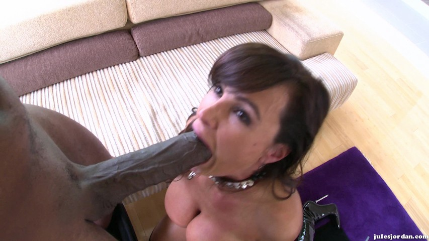 Stylish, busty milf zoey portland deepthroats two big cock