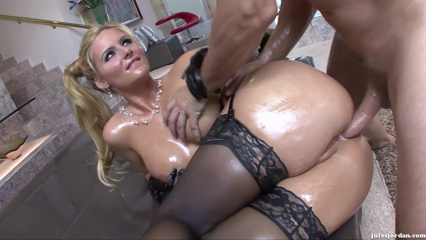 Beautiful Phoenix Marie Gets Lubed With Oil And Fucks Big Cock 1