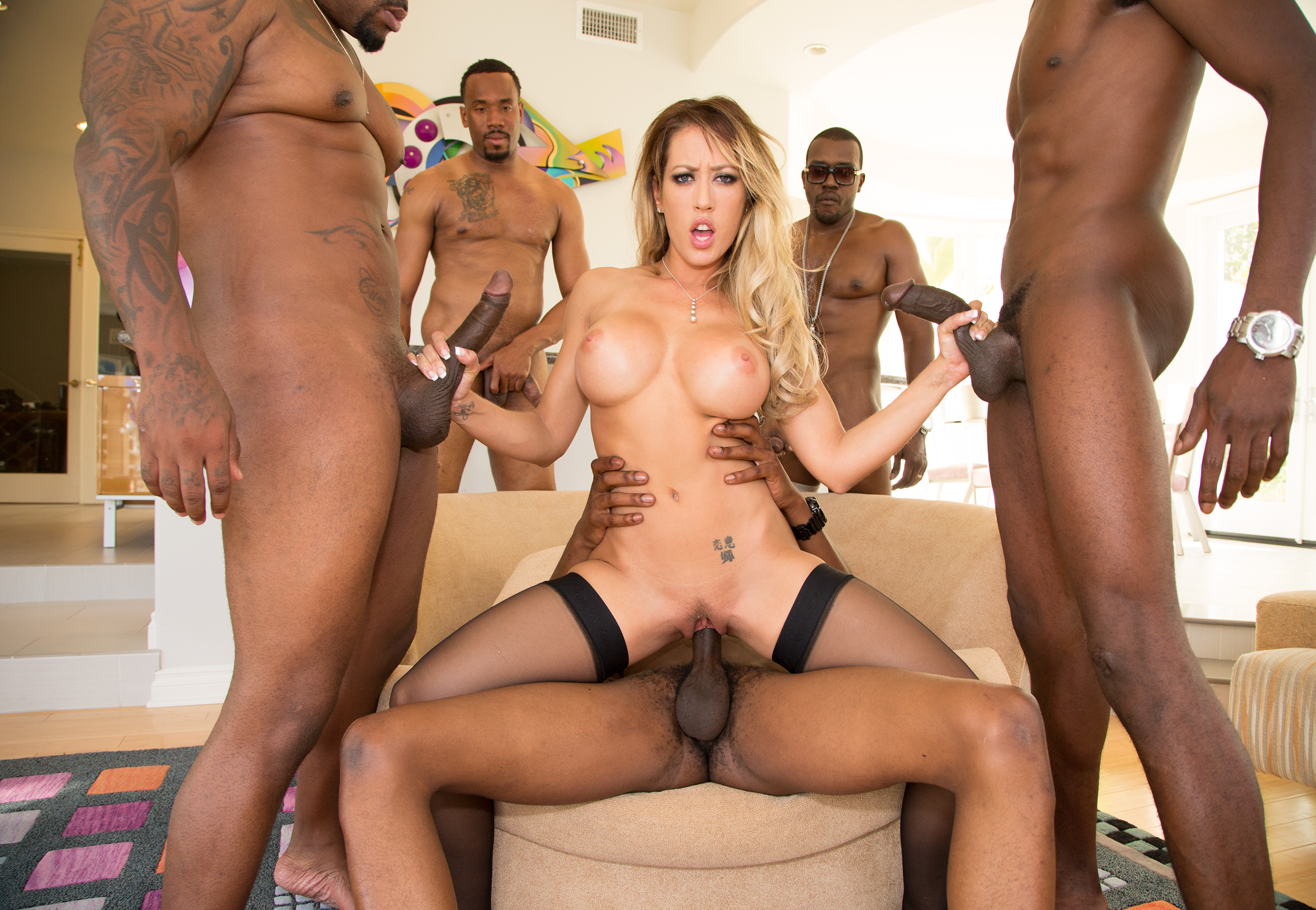 Nina elle gets gangbanged by black guys 7